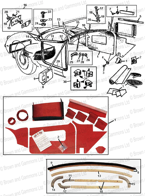 Image for Interior Trim - Roadster