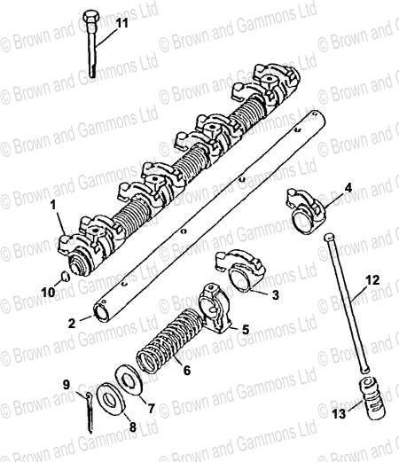 Rocker Shaft Assembly Brown And Gammons