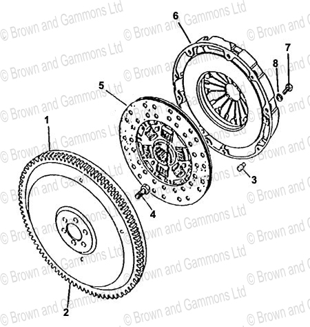 Image for Flywheel and Clutch (R380 Gearbox)