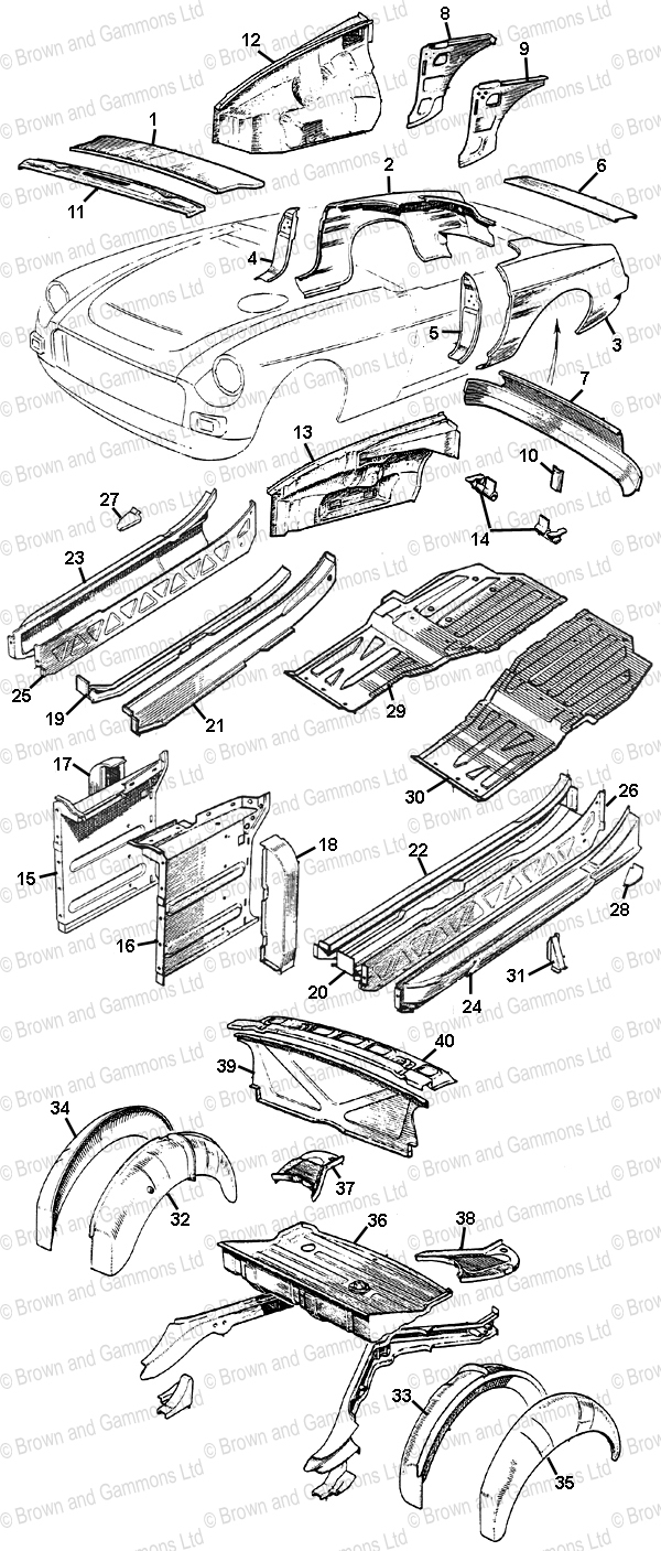 Image for Body Panels - Roadster