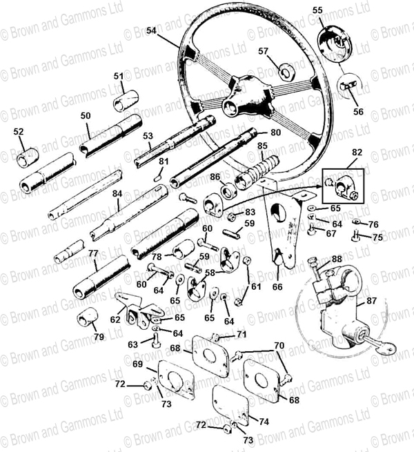 Image for Steering column brackets & wheels
