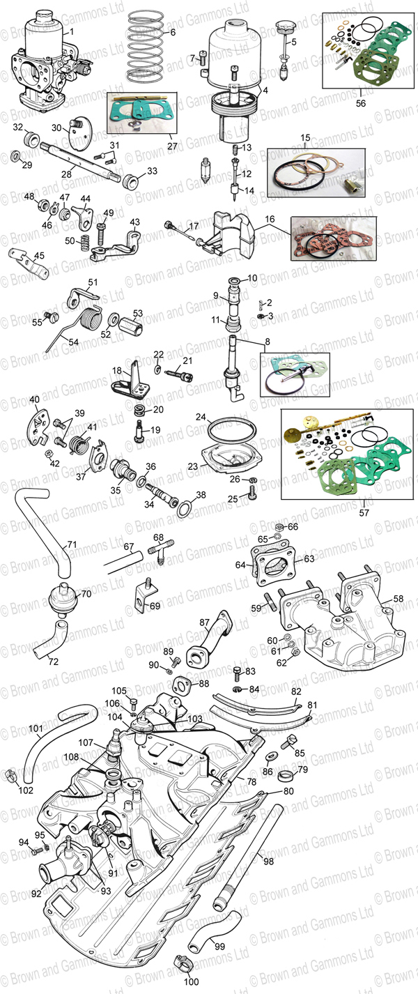 Image for V8 Carburettors and Inlet manifold