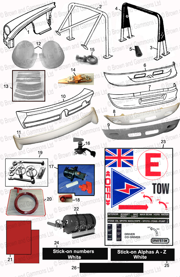 Image for Competition parts - bodywork