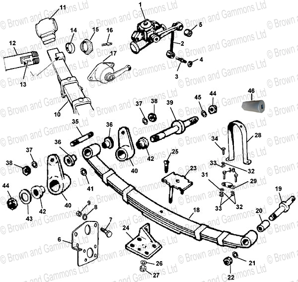 Image for Rear suspension & Rear shock Absorbers