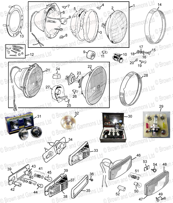 Image for Lamps and lenses - Front