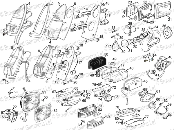 lamps and lenses - rear