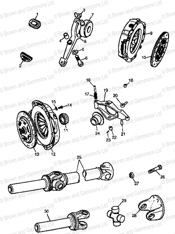 Clutch  U0026 Propshaft Components 1275  1500
