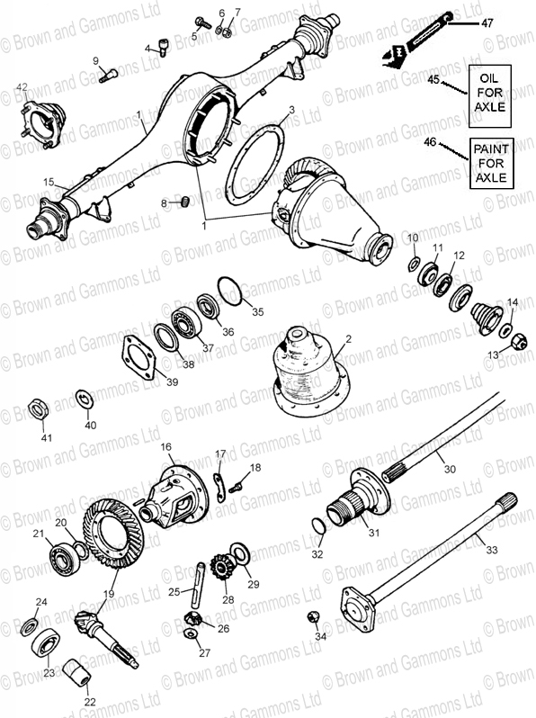 Image for Rear axle - Banjo type