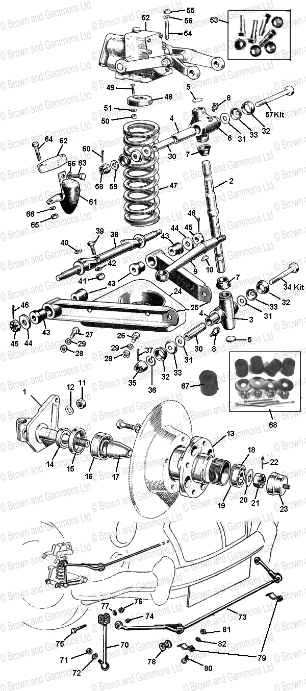 Image for Front Suspension. Shock Absorbers & Anti-roll Bar