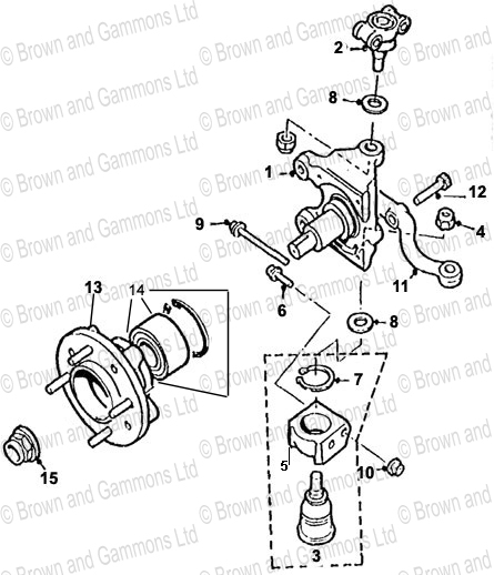 Image for Front suspension- Stub axle