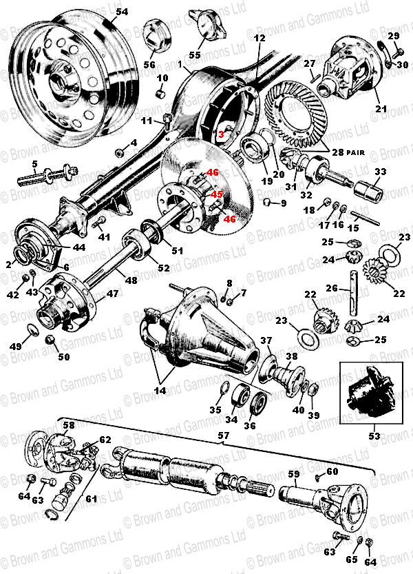Image for Rear Axle. Propshaft & Road Wheels