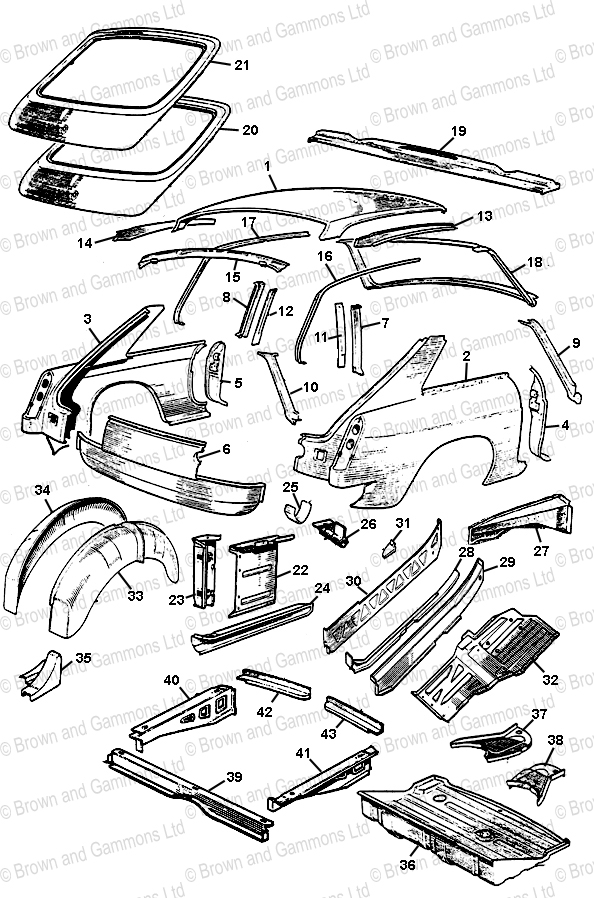 Image for Body Panels - GT