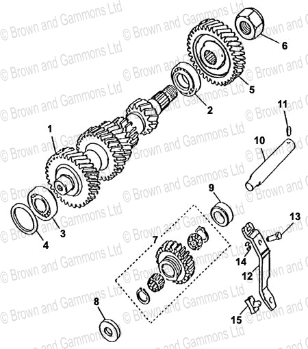 Image for Gearbox -Layshaft - Reverse Idler (LT771)