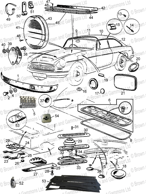 Image for Body Fixings - Roadster & GT