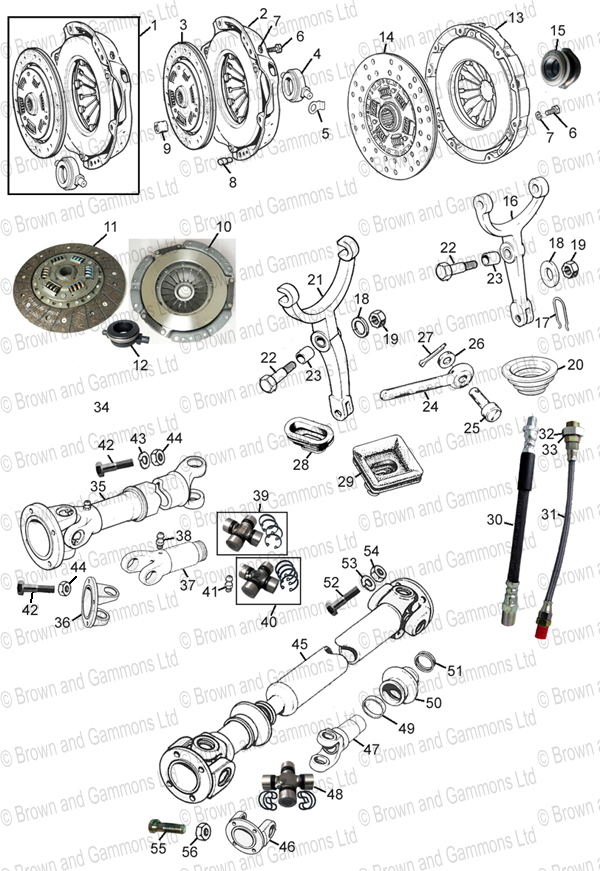 Image for Clutch & propshaft