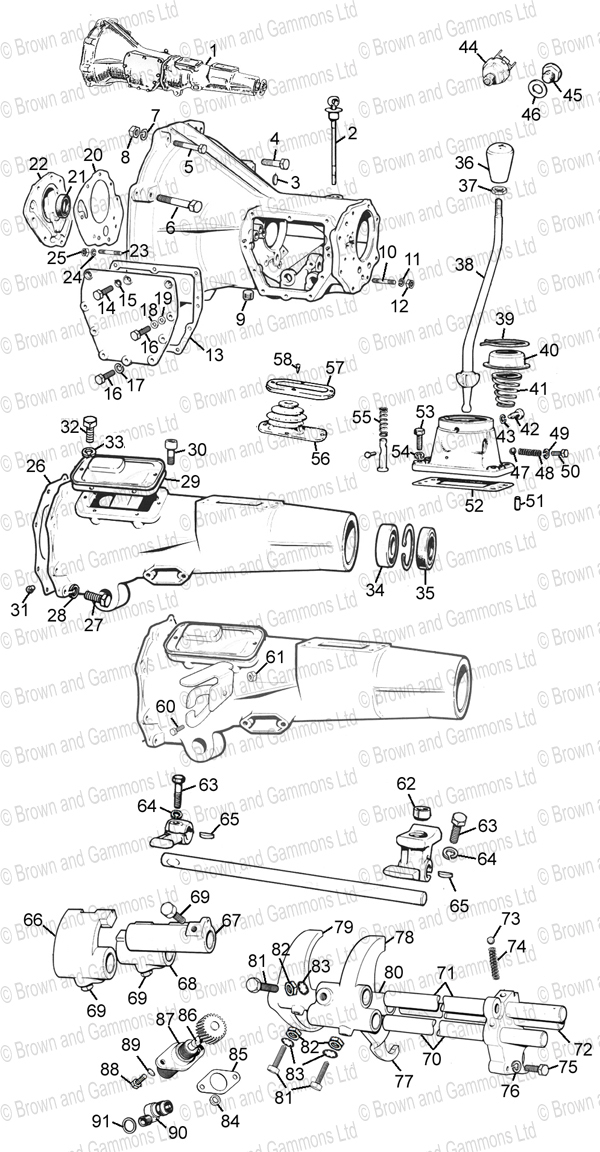 Image for Gearbox 3 syncro & Selectors Standard