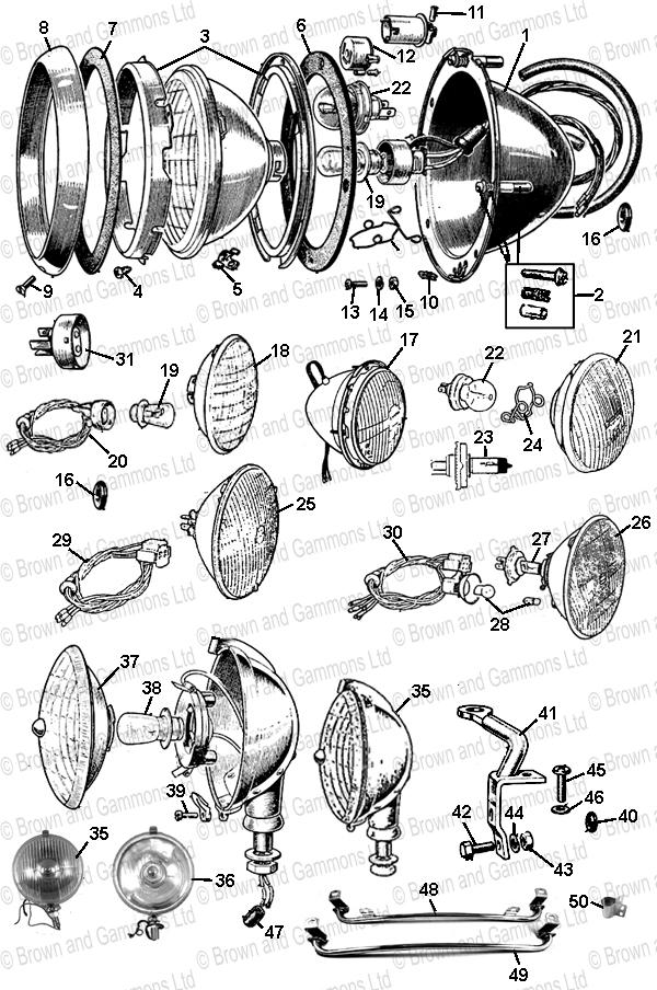 headlamps  fog  u0026 spot lamps  u0026 brackets