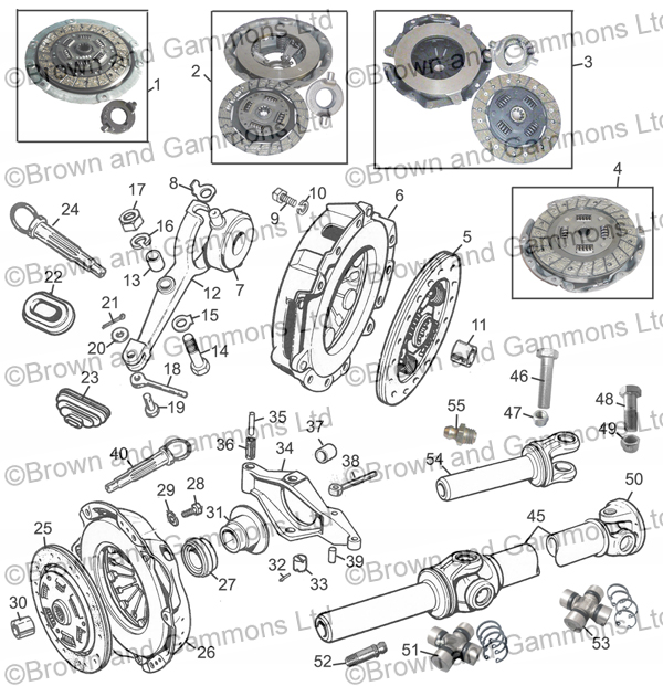 Image for Clutch & Propshaft components 1275/1500
