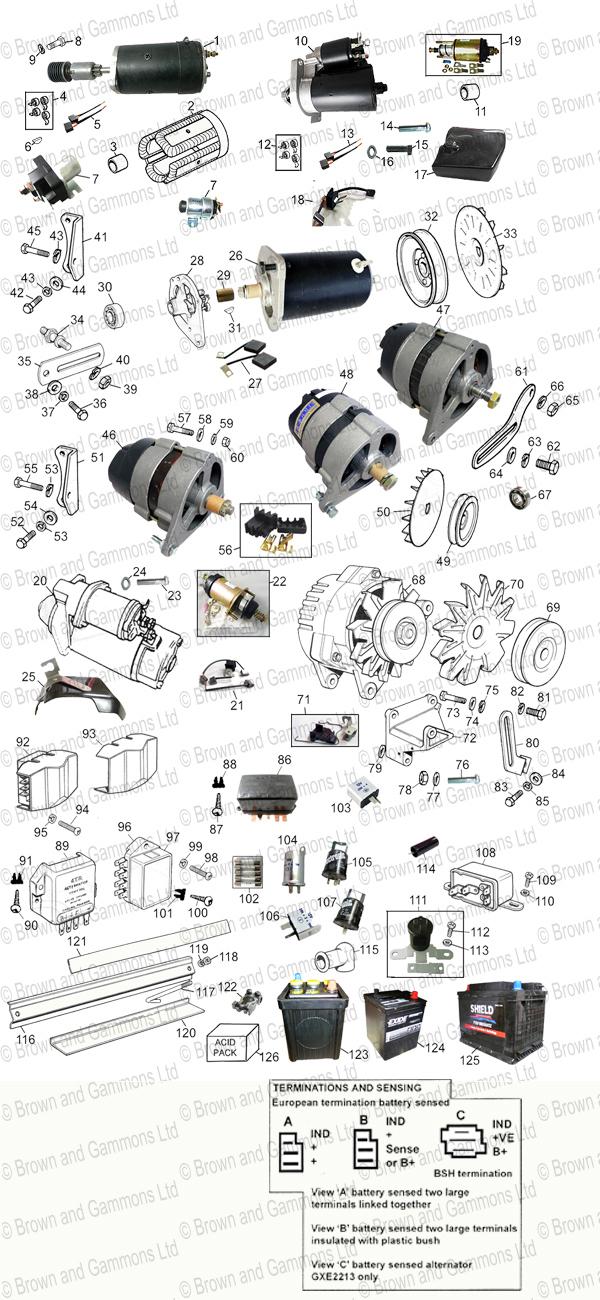 engine electrics  starters  dynamo  alternators