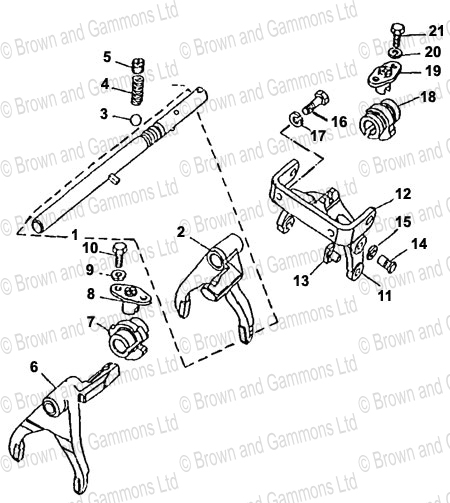 Image for Gearbox Selectors and Shaft (LT771)