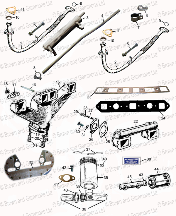 Image for Exhaust system. manifolds & air filters