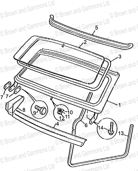 Image for Windscreen and Fittings and Seals