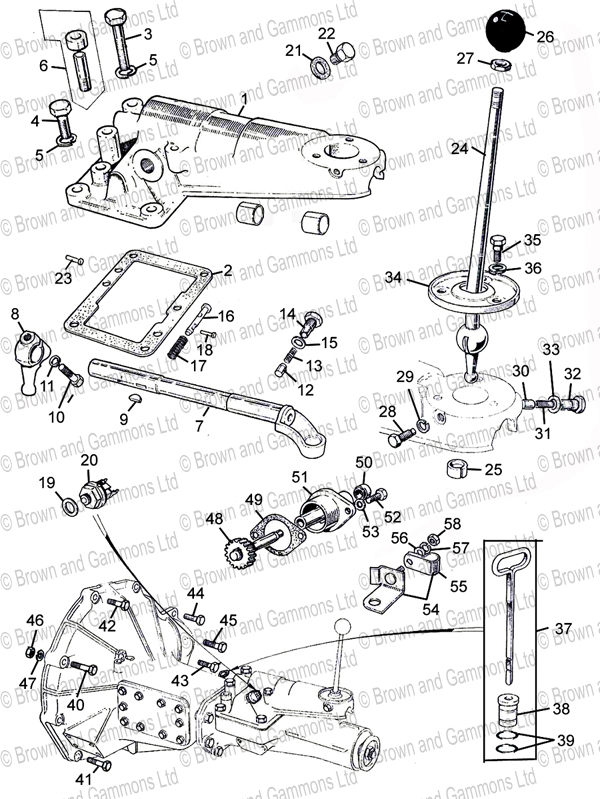 1979 mg mgb wiring diagram mgb transmission diagram gearbox remote control & fittings - brown and gammons #15