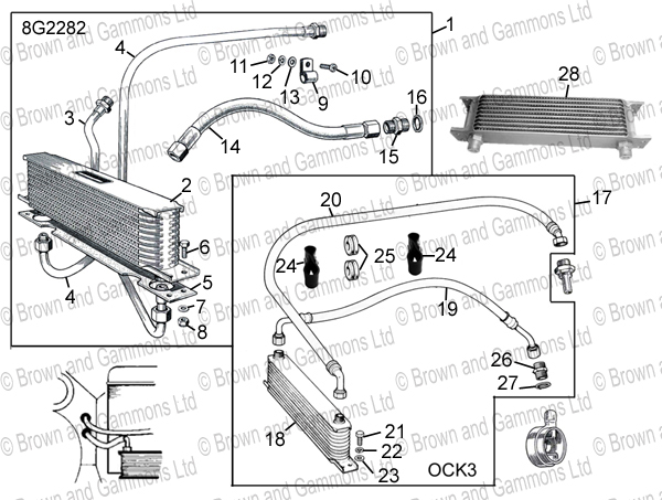 oil cooler kits  u0026 components