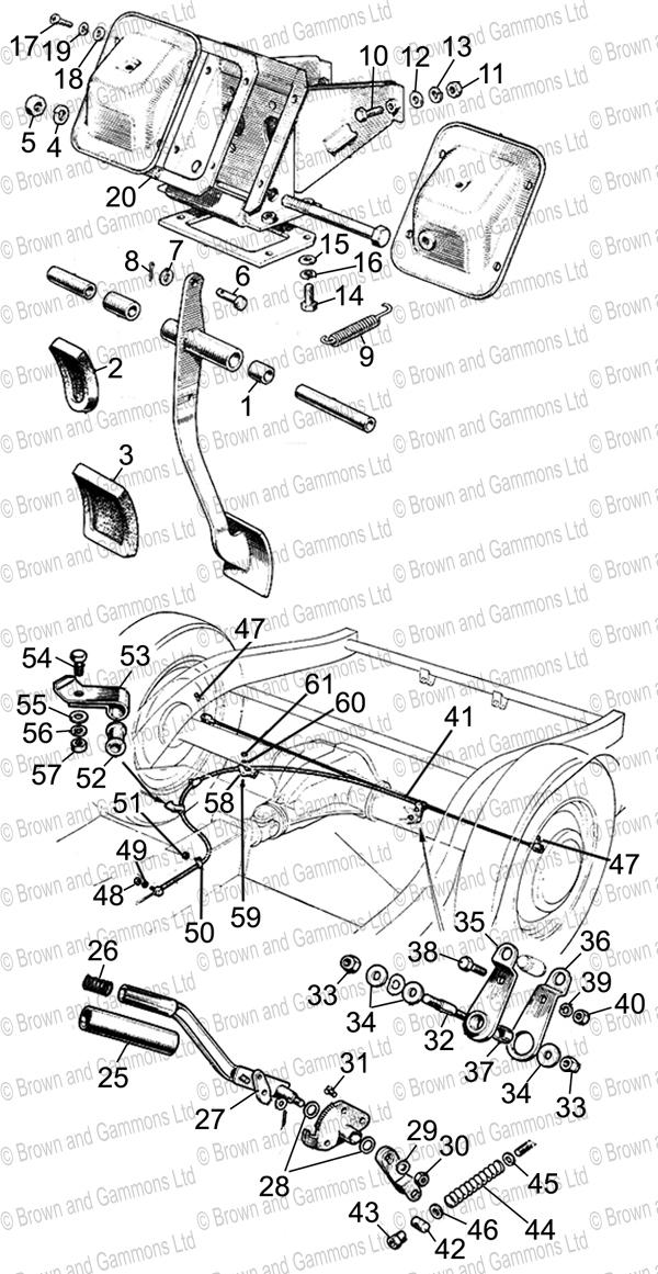 pedals  u0026 handbrake