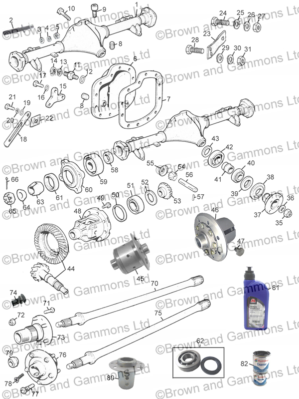 Image for Rear axle - tubed type 1800cc & V8