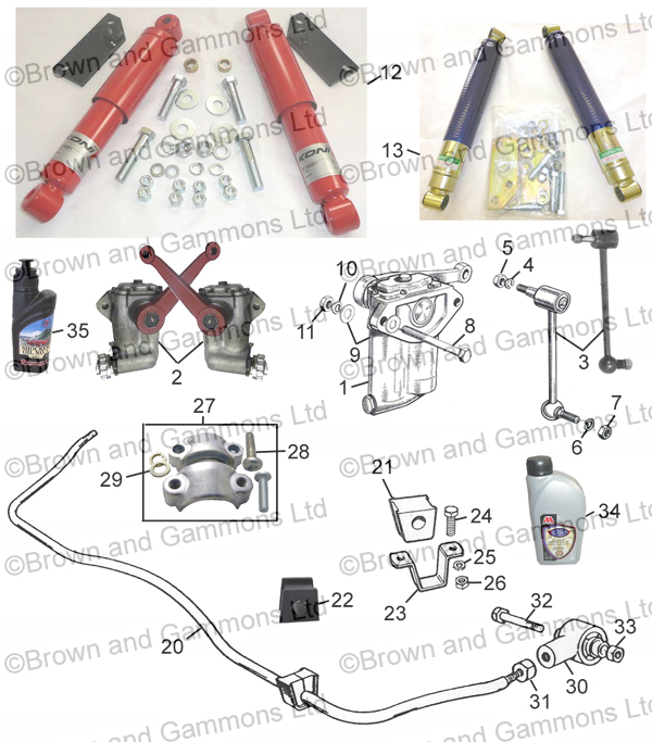Image for Rear Shock Absorbers and Rear Anti roll bar