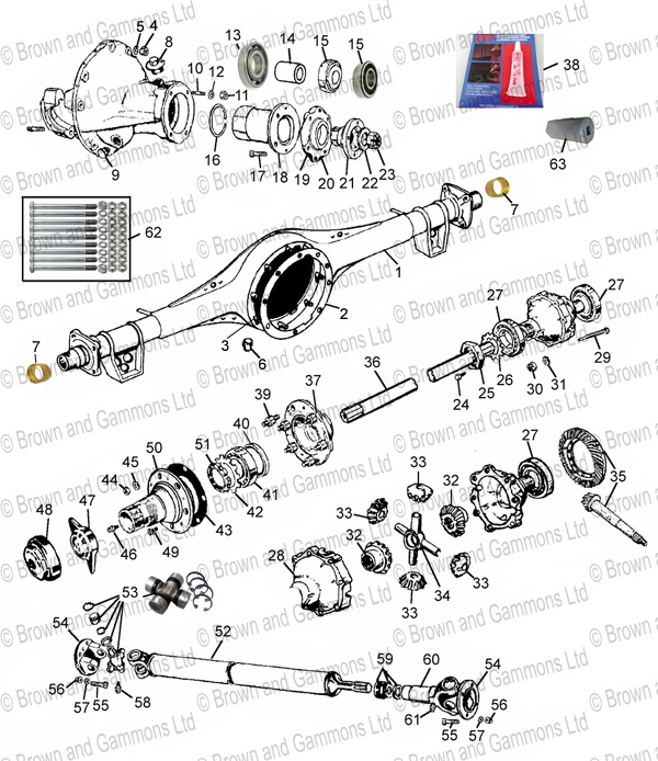 Image for Rear axle.  Differential & Propshaft