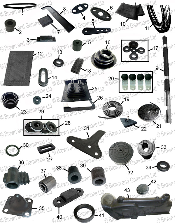 Image for Rubber parts