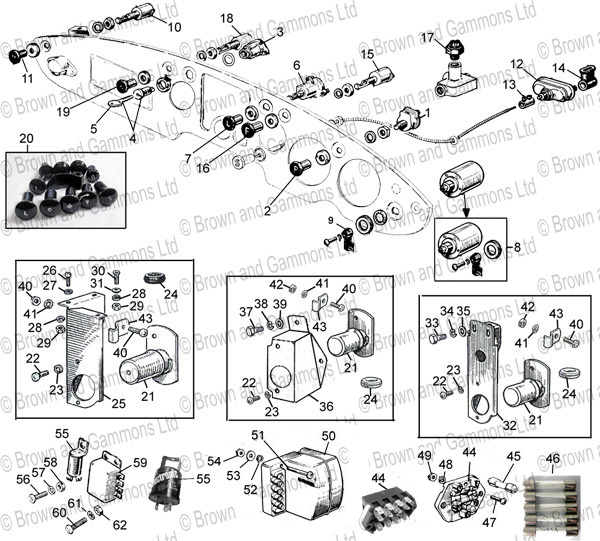 1993 f150 fuse diagram under hood mgb fuse box diagram: switches  fuse box  & regulator
