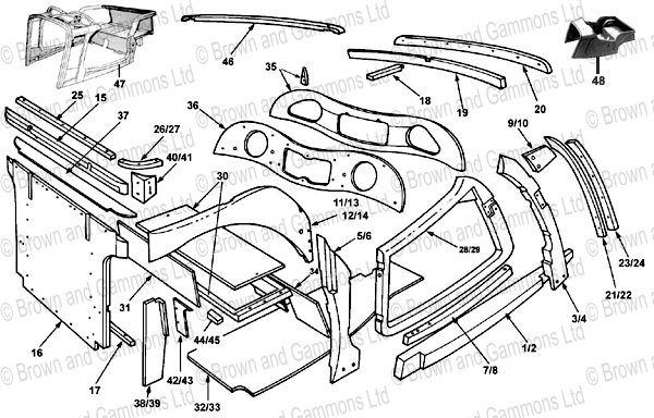 Image for TA TB Wooden body parts