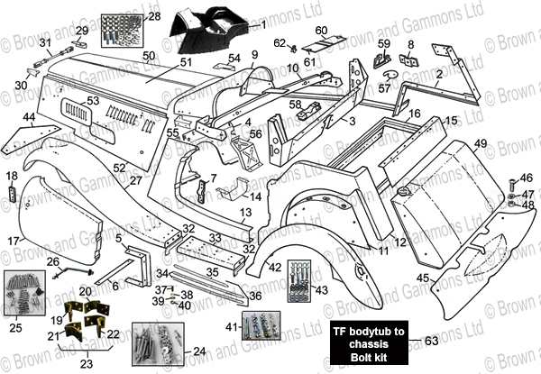 Image for TF Body panels & components