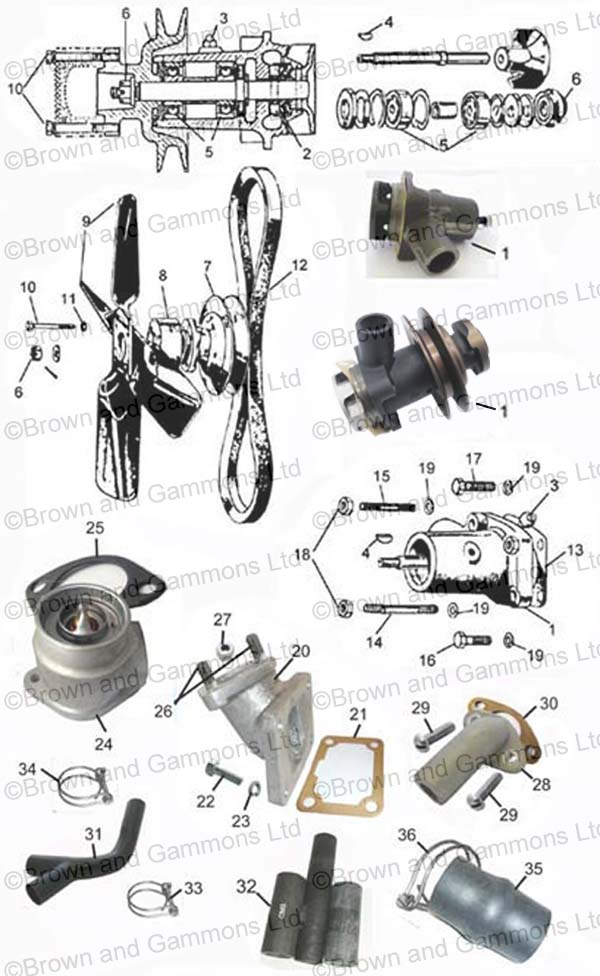 Image for Water pump. Thermostats & elbows