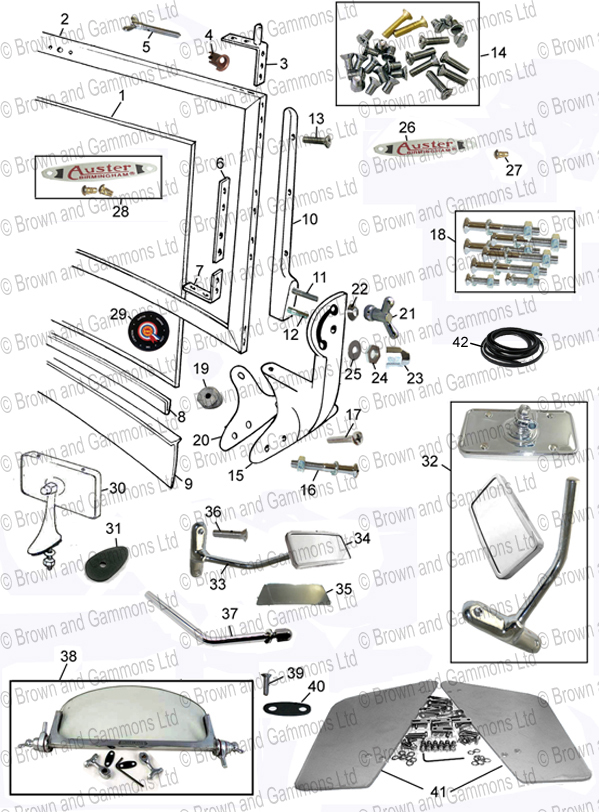Image for Windscreen and fittings