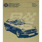 Image for PARTS LIST MGB SEPT. 1976 ON