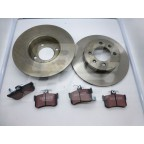 Image for Rear Brake Disc + Pad set MGF TF