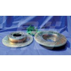 Image for REAR SPORT SLOTTED DISC & GREEN PAD KIT