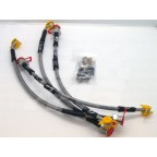 Image for MG TF S/STEEL BRAKE HOSE KIT