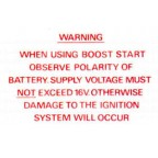 Image for BOOST START LABEL