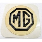 Image for TAX DISC HOLDER 'MG' BROWN/WHITE