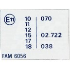 Image for 'E' LABEL (SILVER) FED 75-70N