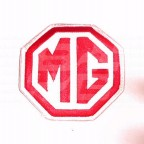 Image for CLOTH BADGE RED/WHITE MG