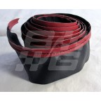 Image for RED/BLACK PIPE COCKPIT RAIL COVER MGB 70 ON