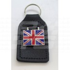 Image for BLACK KEY FOB WITH UNION JACK