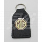 Image for Key Fob Black with MG in Brown/Cream