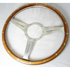 Image for STEERING WHEEL WOODRIM SLOTTED 14 INCH